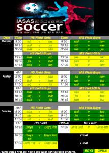 2015 Soccer Schedule
